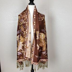 Pashmina Silk Reversible Wrap Scarf